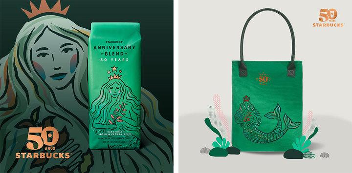 星巴克变「绿茶」了,全世界最有名的美人鱼居然 50 岁了