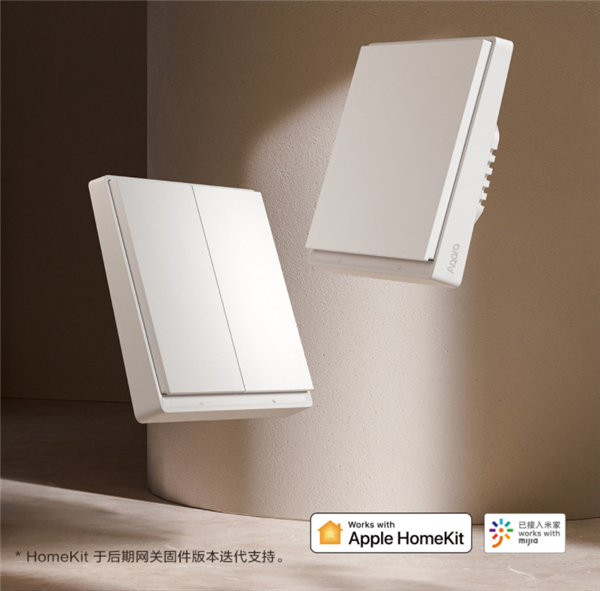 Aqara智能墙壁开关E1首发:不换灯不改线 69元语音/APP控制电灯