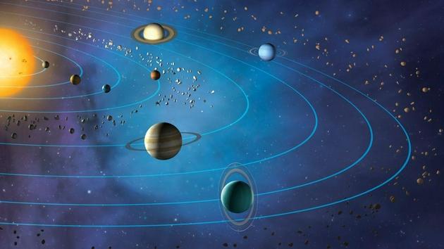 为何太阳系所有行星都在同一平面上旋转?